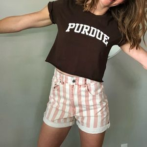 Cropped Purdue top